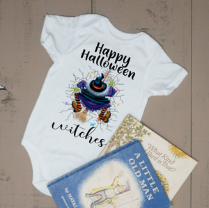 Happy  Halloween Witches Bodysuit - Vintage Outcast