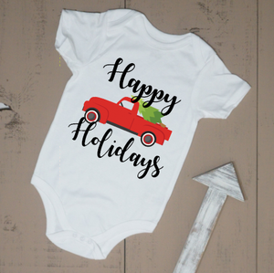 Happy Holidays Truck Bodysuit - Vintage Outcast