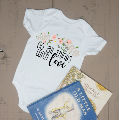 Do All Things with Love Bodysuit - Vintage Outcast