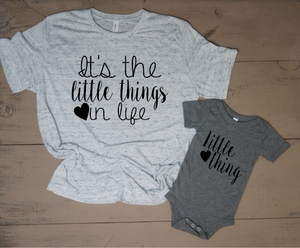 It's The Little Things In Life Mommy and Me Set - Vintage Outcast