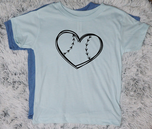 Baseball Heart - Vintage Outcast