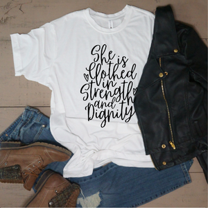 She is Clothed in Strength and Dignity - Vintage Outcast