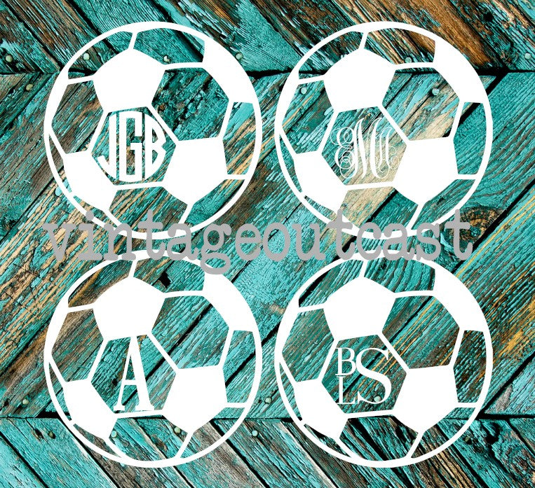 Soccer Monogram Decal - Vintage Outcast