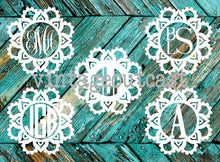 Sunflower Monogram Decal - Vintage Outcast