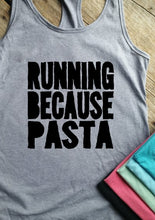 Running Because Pasta Racerback Tank - Vintage Outcast