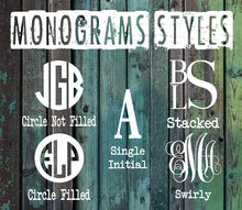 Bulldog Monogram Decal - Vintage Outcast