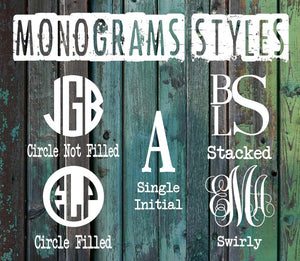 Butterfly Monogram Decal - Vintage Outcast