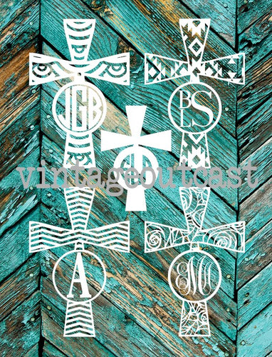 Cross Monogram Decal - Vintage Outcast