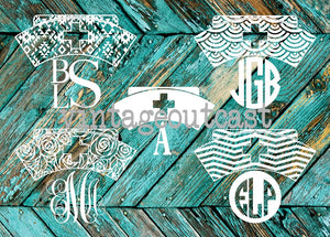 Nurse Monogram Decal - Vintage Outcast