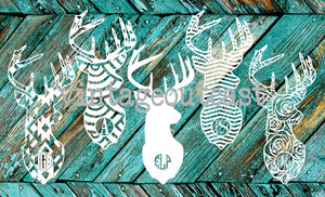 Deer Monogram Decal - Vintage Outcast