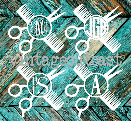 Hairstylist Monogram Decal - Vintage Outcast