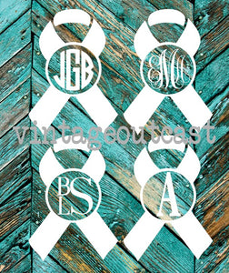 Awareness Ribbon Monogram - Vintage Outcast
