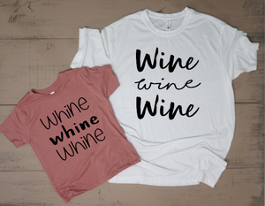 Wine And Whine Mommy and Me Set - Vintage Outcast