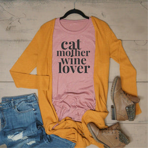 Cat Mother Wine Lover - Vintage Outcast