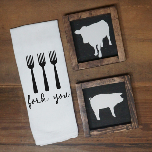 Fork You Towel - Vintage Outcast