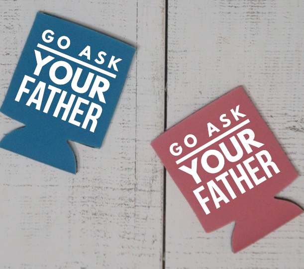Go Ask Your Father Can Cooler - Vintage Outcast