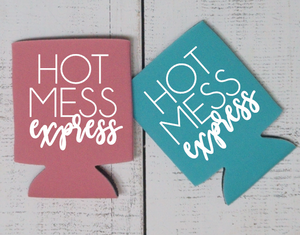Hot Mess Express Can Cooler - Vintage Outcast