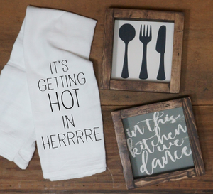 It's Getting Hot in Herrrre Towel - Vintage Outcast