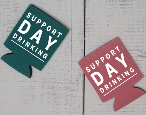 Support Day Drinking Can Cooler - Vintage Outcast