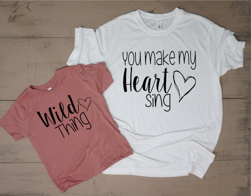 You Make My Heart Sing Mommy and Me Set - Vintage Outcast
