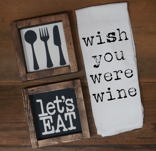 Wish You Were Wine Towel - Vintage Outcast