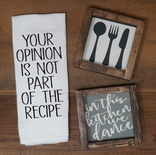 Your Opinion is Not Part of the Recipe Towel - Vintage Outcast
