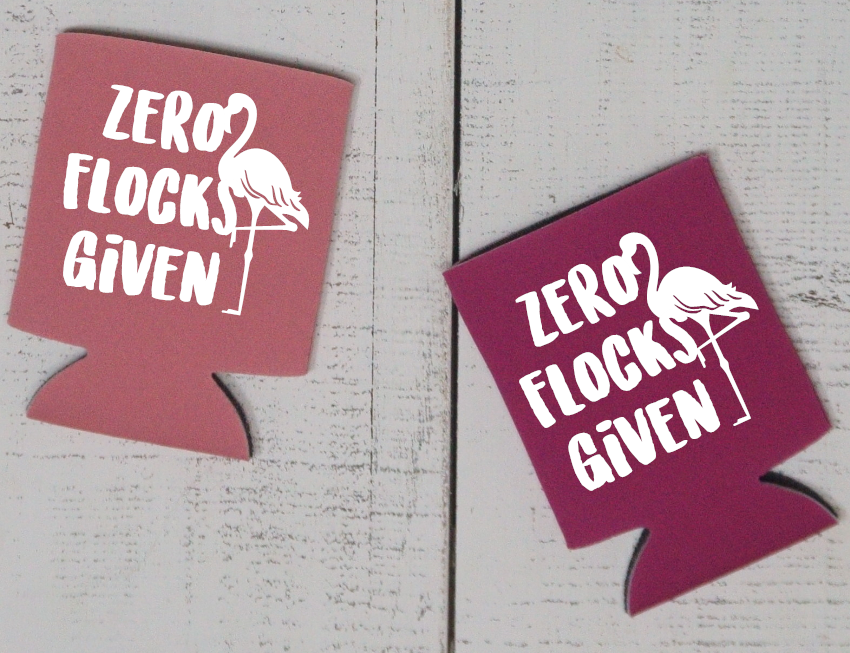 Zero Flocks Given Can Cooler - Vintage Outcast