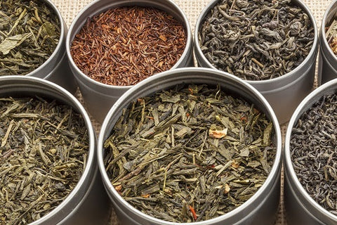 Herbal teas in tin cans