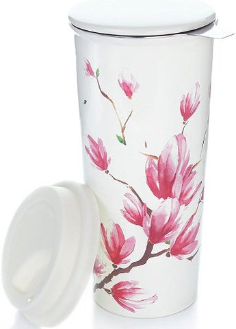 willow and everett 16 oz ceramic travel mug front view