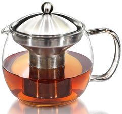 Glass and Stainless Steel Teapot Infuser