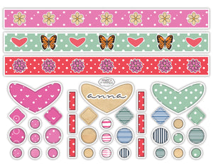 ANNA FROM ALABAMA - DIY DIGITAL DOWNLOAD PAPER JEWELRY KIT