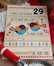 THE GIFT OF PEACE - Day Calendar Art Prints