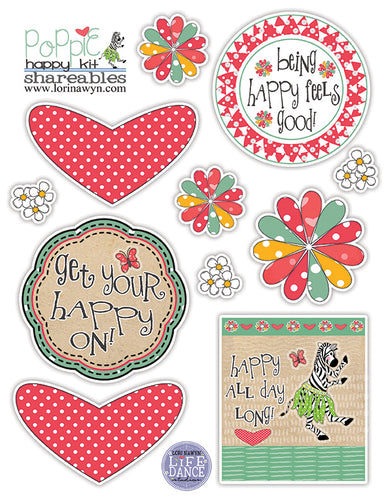 DIY Digital Download - Poppy the Zebra Cutouts - Page 1