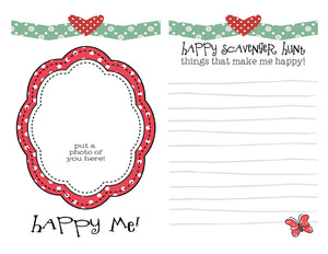 DIY Digital Download - Poppy the Zebra Happy Scavenger Hunt Page