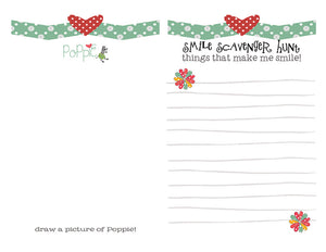 DIY Digital Download - Poppy the Zebra Smile Scavenger Hunt Page