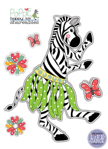 DIY Digital Download - Poppy the Zebra
