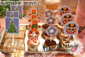 DIY Digital Download - Nutcracker Brunch Cupcake and Cakepop Toppers