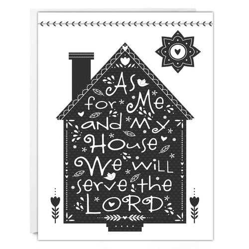 RELIGIOUS NOTECARD - My House