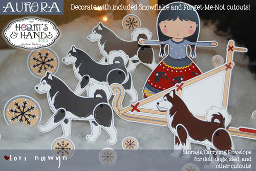 ALASKA  - AURORA COMPLETE 6 PAGE PAPER DOLL KIT