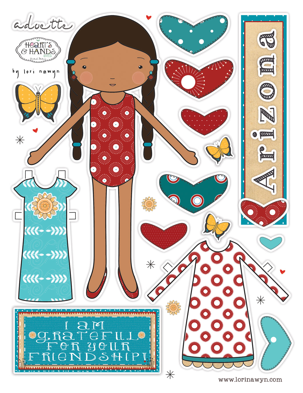 ARIZONA  - DIY DIGITAL DOWNLOAD PAPER DOLL