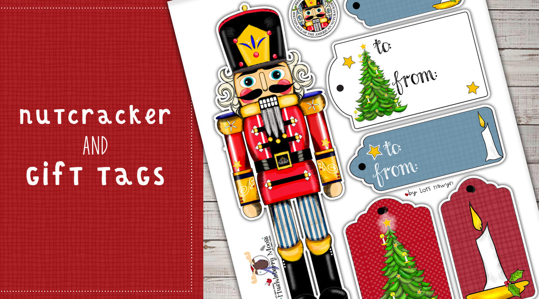 DIY Digital Download - Nutcracker and Gift Tags