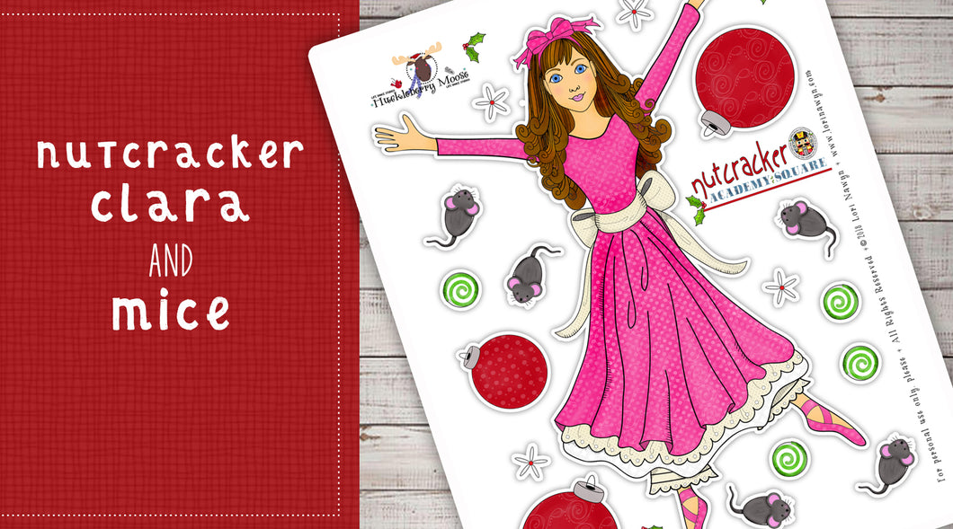 DIY Digital Download - Nutcracker Clara and Mice