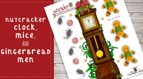 DIY Digital Download - Nutcracker Clock, Mice and Gingerbread Men