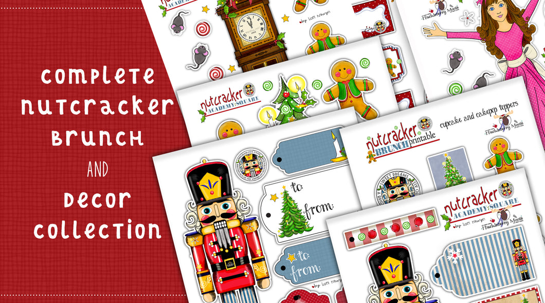 DIY Digital Download - Complete Nutcracker Brunch and Paper Decor Collection