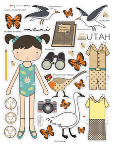 UTAH - Mari - DIY DIGITAL DOWNLOAD PAPER DOLL