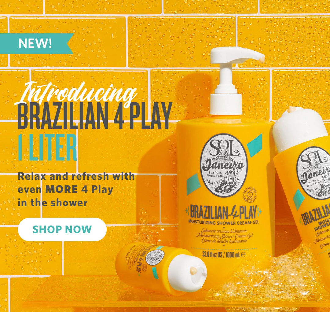 NEW Introducing Brazilian 4 Play Moisturizing Shower Cream-Gel 1 Liter