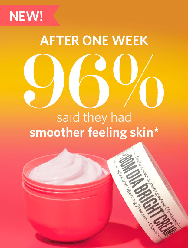 New! After one week 96% said they had smoother feeling skin*