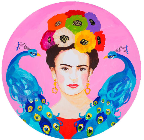 Frida Kahlo art by Ashley Longshore