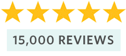 15,000 Reviews