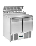 Blizzard BCC2EN-ECO 2 Door Compact Counter Refrigerator
